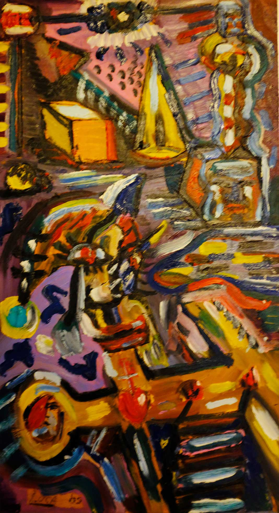 L'enigmistica della Croce - olio su tela