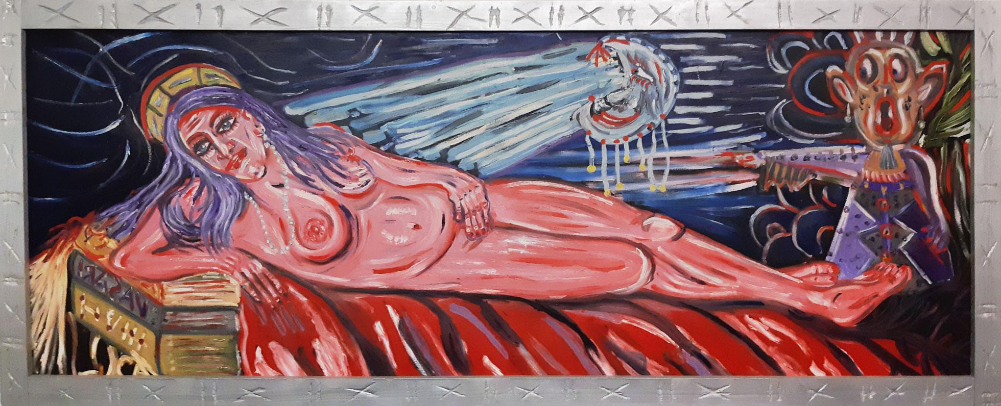 nudo di donna - olio su tela