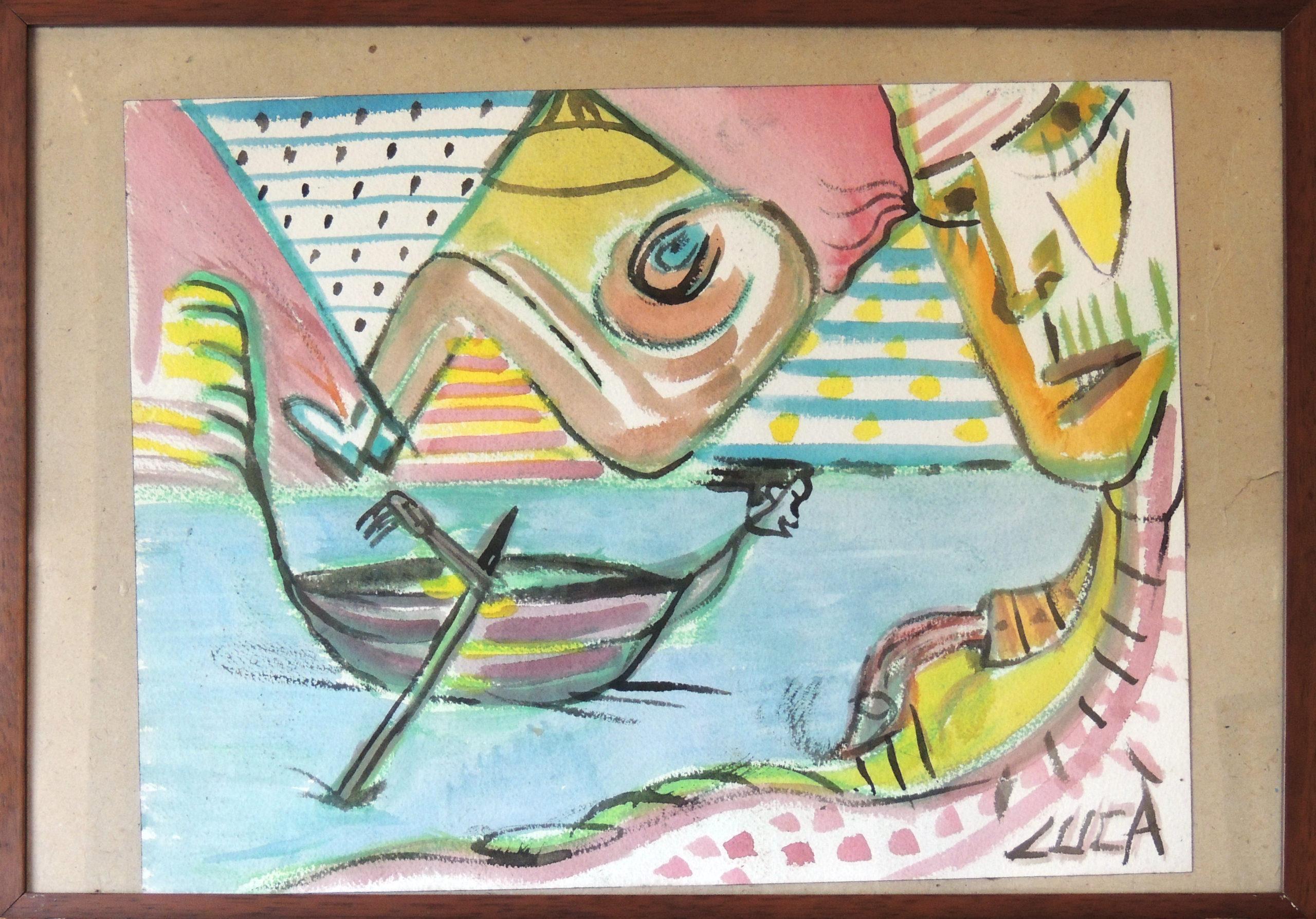 La gondola - acquerello